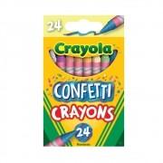 Giz De Cera Confetti 24 Cores Crayola