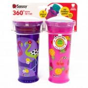 Copo 360º 355ml +12m Roxo c/2 Sassy