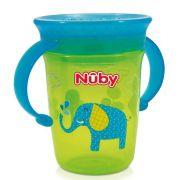 Copo 360º Com Alça 240ml +6meses Verde Elefante Nuby