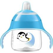 Copo Pinguim 200ml +6m Azul Philips Avent