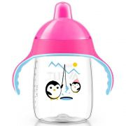 Copo Pinguim 340ml +18m Rosa Philips Avent