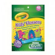 Fio Dental Kid's Flossers c/40 Crayola