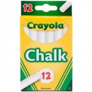 Giz Chalk Para Quadro Negro Branco c/12 Crayola