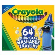 Giz De Cera 64 Cores Lavável Crayola