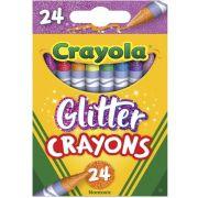 Giz De Cera Com Glitter 24 Cores Crayola
