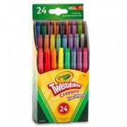 Giz de Cera Mini Twist 24 Cores Crayola
