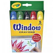 Giz de Cera Para Vidro Lavável 5 Cores Crayola