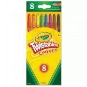 Giz de Cera Twistable 8 Cores Crayola