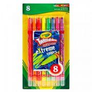 Giz de Cera Twistable Neon 8Cores Crayola