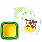 Kit 3 Potes Snack Girafa Skip Hop