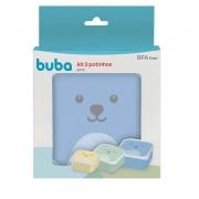 Kit 3 Potinhos Gumy Azul Buba