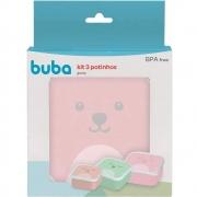 Kit 3 Potinhos Gumy Rosa Buba