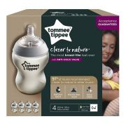 Kit 4 Mamadeiras Closer To Nature 260ml +0m Tommee Tippee