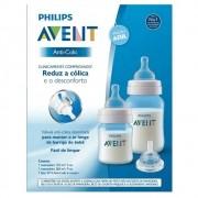 Kit Mamadeira Classic 125ml + 260ml + Bico n.4 Azul Philips Avent