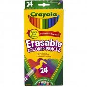 Lápis de Cor Apagável 24 Cores Crayola