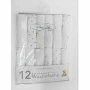 Lencinhos Washcloths Branco Estrelas 12 Peças René Rofé