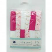 Lencinhos Washcloths Vermelho Arco iris 12 Peças Baby Gear