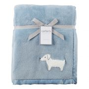 Manta Cachorro Azul 102cm X 76cm Carters