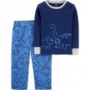 Pijama Longo 2peças Dino Azul Carters