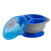 Prato Com Ventosa E Divisória Azul +6m Clingo