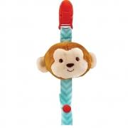 Prendedor De Chupetas Pelúcia Animal Fun Macaco Buba
