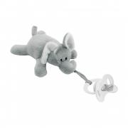 Prendedor de Chupetas Pelúcia Elefante Buba