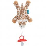 Prendedor de Chupetas Pelúcia Girafa Buba