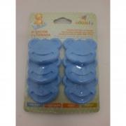 Protetor de Tomadas Azul C/6 Adoleta