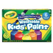 Tinta Lavável Washable Kids Paint 6 Cores Crayola