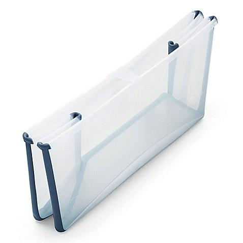 Banheira Dobrável Transparente/Azul Stokke