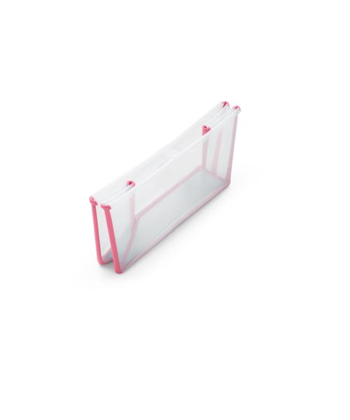 Banheira Dobrável Transparente/Rosa Stokke