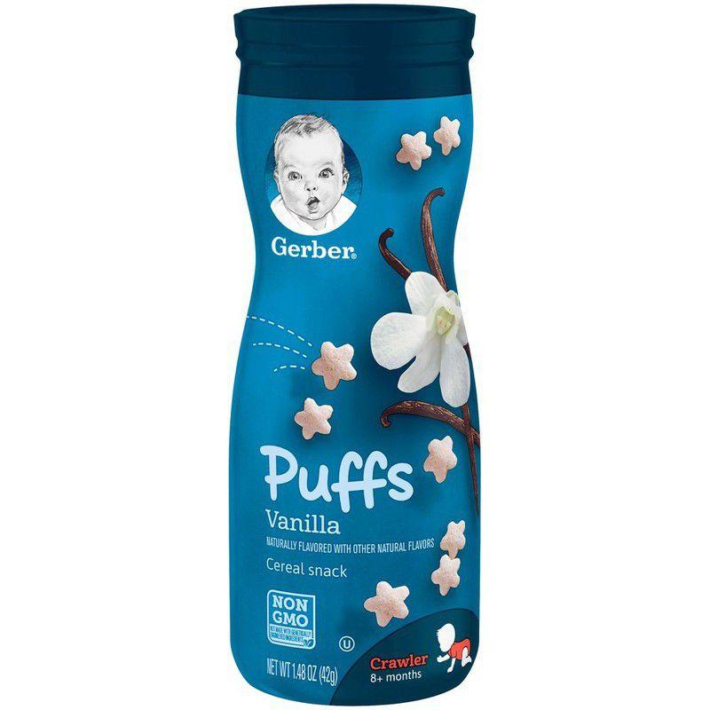 Biscoitinho Snack Puffs Baunilha 42g Gerber