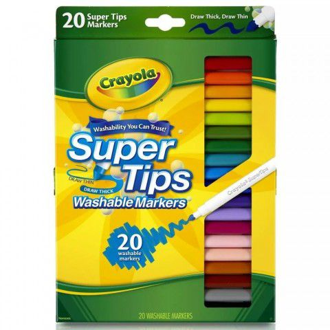 Canetinhas Laváveis Super Tips 20 Cores Crayola