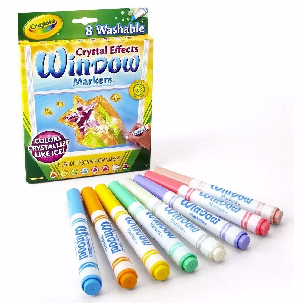 Canetinhas Para Janelas e Espelhos Efeito Cristal 8 Cores Crayola