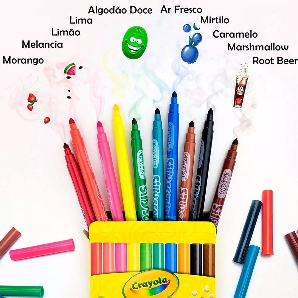 Canetinhas Silly Scients 10Cores Crayola