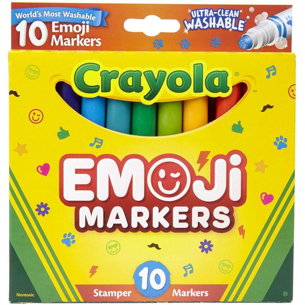 Canetinhas Super Carimbo Emoji 10 Cores Crayola