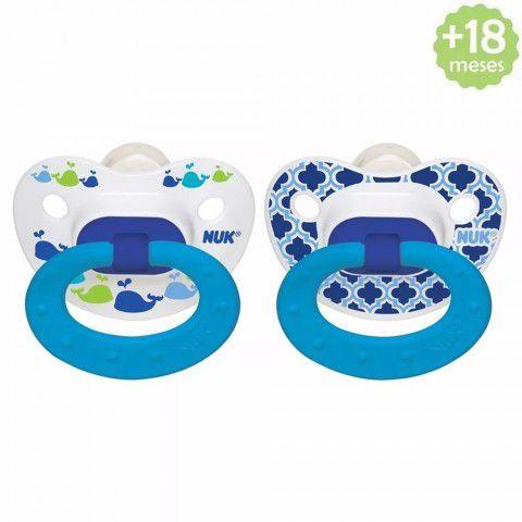 Chupeta Classic 18-36meses Baleia Azul c/2 Nuk