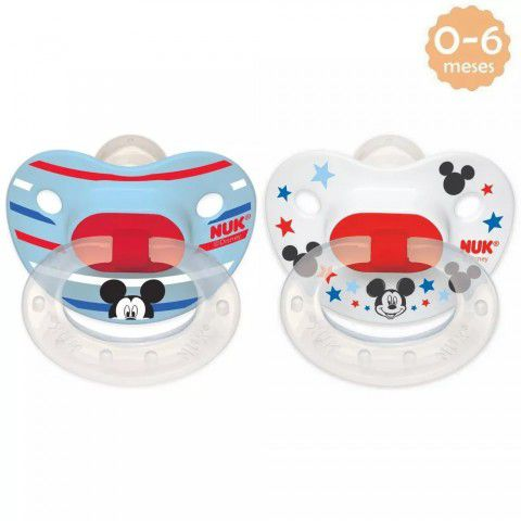 Chupeta Disney Mickey 0-6 Meses C/2 Nuk