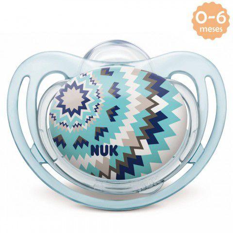 Chupeta Freestyle 0-6meses Azul Clean Nuk