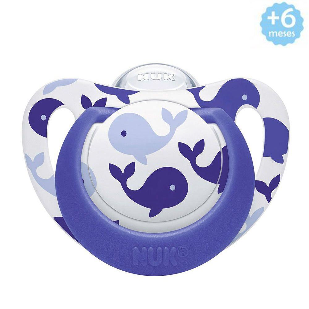 Chupeta Genius +6meses Azul Baleia Nuk