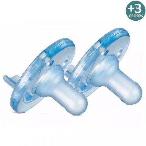 Chupeta Soothie Calmante +3 Meses Azul Com 2 Philips Avent