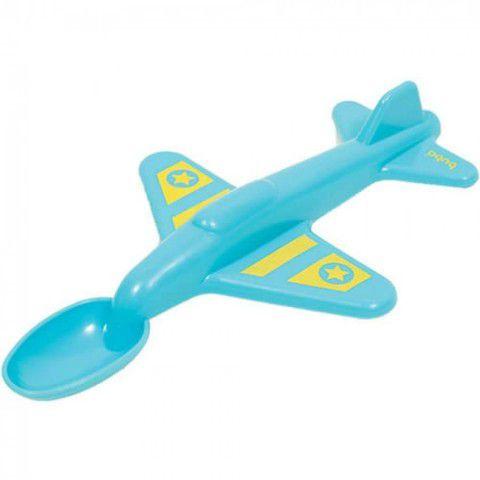 Colher Avião Azul Buba
