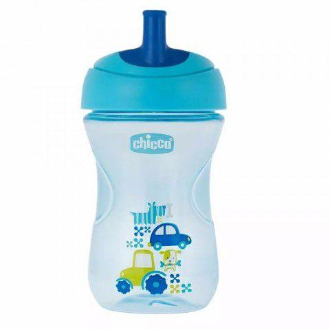 Copo Advanced Cup Azul Carro 266ml + 12m Chicco