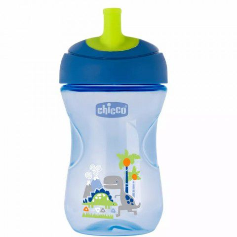 Copo Advanced Cup Azul Dinossauro 260ml + 12m Chicco