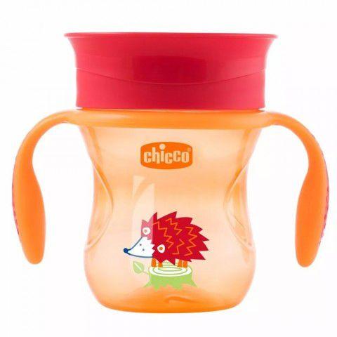 Copo Perfect Cup Laranja 200ml +12m 360º Chicco