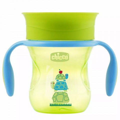 Copo Perfect Cup Verde 200ml +12m 360º Chicco