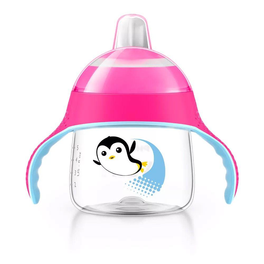 Copo Pinguim 200ml +6m Rosa Philips Avent