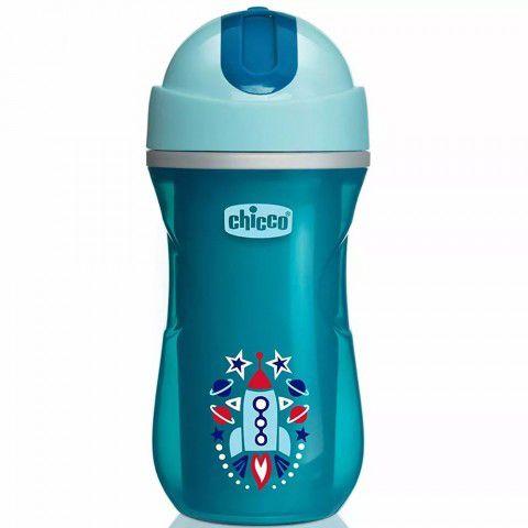Copo Sport Cup Térmico 266ml +14m Azul Chicco