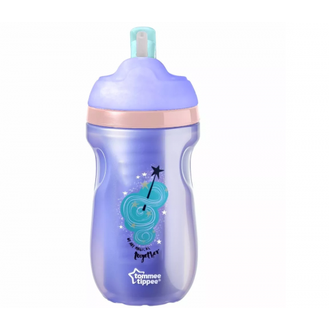 Copo Térmico C/Canudo 260ml +12 Meses Roxo Tommee Tippee