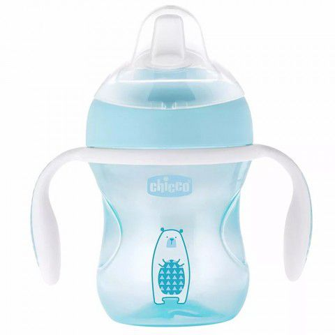 Copo Transition Cup 200ml +4m Azul Urso Chicco